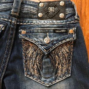 Miss Me Je5616T4R Straight Flap Pockets 25 x 31